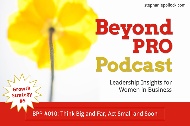 BPP #010: Growth Strategy No. 5, Think big and far, act small and soon